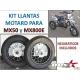 KIT LLANTAS MOTARD+NEUMATICOS MX50-MX800E