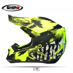 CASCO SHIRO MX-305 AMARILLO FLUOR ADULTO