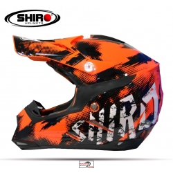 CASCO SHIRO MX-305 NARANJA FLUOR ADULTO