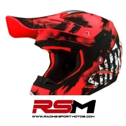 CASCO SHIRO MX-306 SILS JUNIOR ROJO
