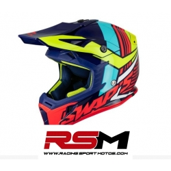 SWAPS CASCO CROSS ADULTO AZUL BRILLO
