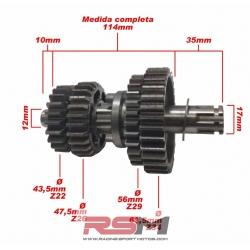 EJE SECUNDARIO 110Z /125Z RACING (CAJA DE CAMBIOS)